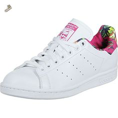 adidas Womens Stan Smith (W) White/Pink/Multi 9 - Adidas sneakers for women (*Amazon Partner-Link)