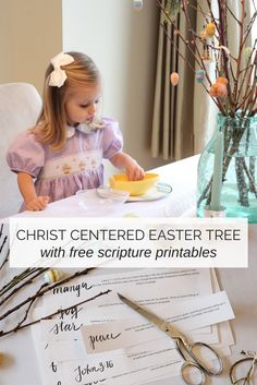 The Christ Centered Easter Tree tradition with scripture printables from The Small Seed