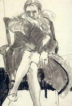 Richard Diebenkorn, unknown on ArtStack #richard-diebenkorn #art