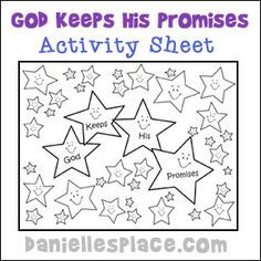 Abraham God Keeps His Promises Activity Sheet For Sunday School From Daniellesplace