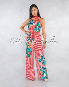 Just In - Page 7 - Chic Couture Online Sexy Dresses, Fashion Dresses, Chic Couture Online, Ruffle Jumpsuit, Printed Maxi Skirts, Lace Ruffle, Floral Stripe, Complete Outfits, Red Stripes