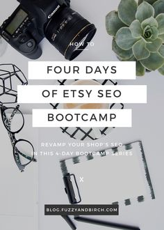 "Etsy SEO Bootcamp - Creative people love to overlook logistical things. I'm talking about all those little things that will ""get done eventually"". And it's the technical bits that we tend to leave for last…""I'll do it when I absolutely need it"" — that's the excuse I usually hear. Well guess what: You NEED SEO. Every day you wait, you're losing sales and customers. Now and forever, SEO is literally the ONLY way for Etsy to figure out what you're selling. And if Etsy doesn't understand your…"