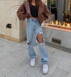 Indie Outfits, Teen Fashion Outfits, Retro Outfits, Cute Casual Outfits, Simple Outfits, Fall Outfits, Vintage Outfits, Outfit Winter, Girl Fashion