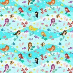 d499843d096 Mermaid Fun European Oeko-tex Certified Cotton Lycra Knit Jersey Fabric