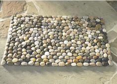 River rock mat