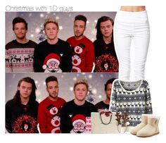 """Christmas with 1D guys"" by xcuteniallx ❤ liked on Polyvore featuring Pieces, UGG Australia, Casetify and Burberry"