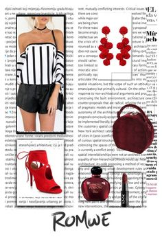 """""""Romwe"""" by damira11 ❤ liked on Polyvore featuring Humble Chic, Bertoni, Aquazzura, NYX and Christian Dior"""