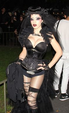 #Goth day at Disneyland. I'd go just for her...