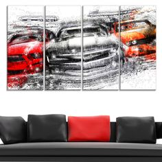 American Street Race Large Gallery Wrapped Canvas