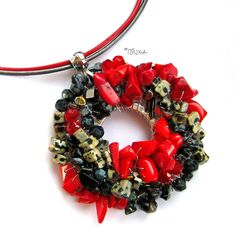 "Necklace ""Carmen"" by TOSZKA on Etsy"