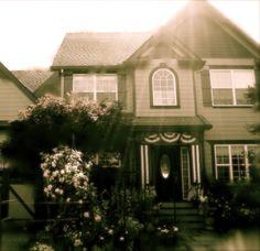 """Our home:  GLENDORA'S COTTAGE    Named after my grandmother, Glendora Kincaid    Named after the rose, """"Glendora"""""""