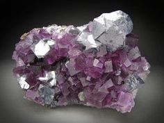Mineral Specimen Fluorite and Galena Crystals Denton Mine Cave in Rock Hardin County Illinois For Sale