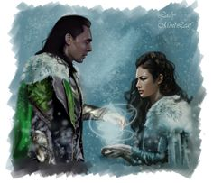 loki and elsa | COMMISSION Loki and Sigyn magic by LadyMintLeaf