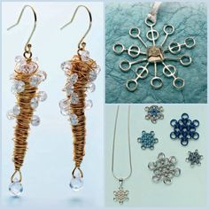 Free and easy DIY winter-themed jewelry making ideas. #giftideas #jewelry