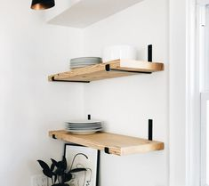 Metal Shelf Brackets, Floating Shelf Hardware in Steel, Black or Brass (Featured on Young House Love) - Shelf Desing Floating Shelf Hardware, Floating Shelf Brackets, Metal Shelf Brackets, Floating Shelves Diy, Metal Shelves, Young House Love, Shelving Systems, Open Shelving, Diy Shelving