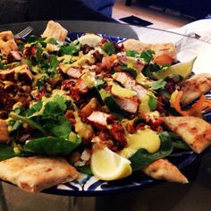 Cooking with Kath: Jamies Chicken Tikka, Lentil, Spinach and Naan Salad