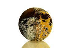 """Elemental Series: Bronze Stone""  Art Glass Paperweight  Created by David Royce"
