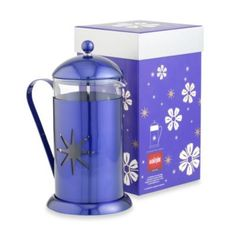 La Cafetiere Midnight Blue Star 8-Cup French Press - BedBathandBeyond.com
