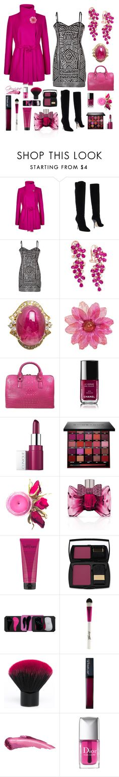 """""""In Living Color"""" by gemique ❤ liked on Polyvore featuring Ted Baker, Jimmy Choo, Effy Jewelry, Tiffany & Fred, Chanel, Clinique, Smashbox, Viktor & Rolf, philosophy and Lancôme"""