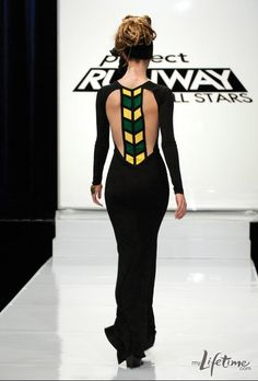 Project Runway All Stars- Mondo's episode 8 Jamaican flag-inspired look