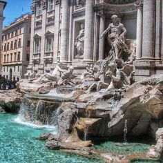 The Trevi Fountain in #Rome is one of the most famous fountains in the world, with good reason. Photo courtesy of mthiessen on Instagram.