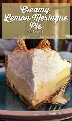 If you love lemon Lemon Dessert Recipes, Easy Pie Recipes, Homemade Desserts, Tart Recipes, Sweet Recipes, Citrus Recipes, Homemade Pie, Fun Desserts, Lemon Meringue Pie Recipe Condensed Milk