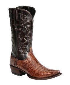 9a53c7241dbd Lucchese Handcrafted 1883 Black & Tan Crocodile Belly Cowboy Boots - Snip  Toe Férfi Cipők Csizmák