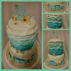 "Seashell Beach Theme Cake #Beach #Seashell #Ombre #Blue #ChocolateDevilishCake #InstaCake #NoveltyCake   ""Happy Birthday Isabelle!""  #ximiCake #BakedByPriscillia #BakedByPeien  www.Facebook.com/ximiCake"