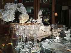 Crystal Glasses, Pressed Glass Candle Holders, Crystal Decanters