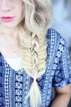 Stacked Side Braid   Cute Girls Hairstyles
