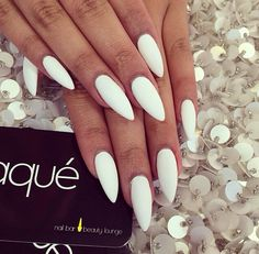 What You Should Understand About Stiletto Nails published in TopTeny magazine Ho. What You Should Understand About Stiletto Nails published in TopTeny magazine How To Dream Nails, Love Nails, Fun Nails, White Almond Nails, Almond Shape Nails, Gorgeous Nails, Pretty Nails, White Stiletto Nails, Long White Nails