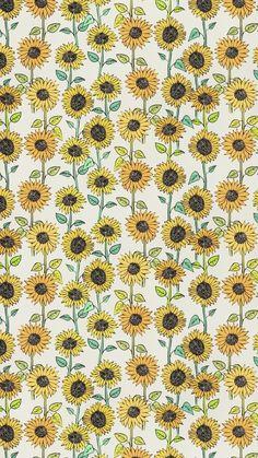 Sunflower wallpaper, sunflower pattern, pattern flower, cute backgrounds, p Cute Backgrounds, Cute Wallpapers, Wallpaper Backgrounds, Pattern Wallpaper Iphone, Artsy Wallpaper Iphone, Hipster Wallpaper, Halloween Backgrounds, Wallpaper Art, Iphone Backgrounds