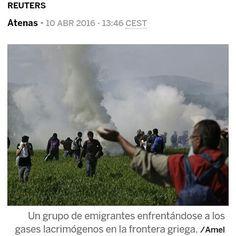 La Policía macedonia ha usado gases lacrimógenos para dispersar a los refugiados. (EL PAÍS) #retovisual0911 #CA0911 ¿De verdad queréis mirar hacia otro lado? Concert, Twitter, Instagram Posts, Macedonia, Truths, Athens, Concerts, Fruit Salads