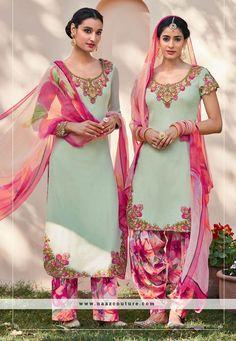 Entrancing Embroidery Work Pakistani Salwar Suit
