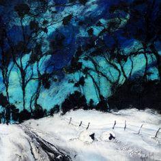Moy Mackay_Northern Light Grazing_Felted Merino_22x21 | Scottish Contemporary Art Needle Felted, Wet Felting, Felted Wool, Felt Pictures, Painting Snow, Glasgow School Of Art, Textile Fiber Art, Wool Art, Indigenous Art