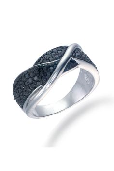 Vir Jewels 0.75Ct. Black Diamond Ring In Sterling Silver