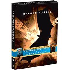 DVD Batman: O Cavaleiro das Trevas + DVD Batman Begins