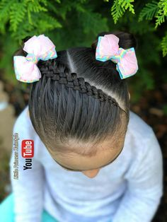 I want to master this hair stile Girls Hairdos, Girls Natural Hairstyles, Baby Girl Hairstyles, Braided Hairstyles, Curly Hair Styles, Natural Hair Styles, Little Girl Braids, Mixed Hair, Toddler Hair