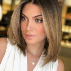 Awesome Medium Length Hairstyles 2020 - Pretty Hottest Shoulder Length Haircuts Part 26 Bob Hairstyles For Fine Hair, Short Hairstyles For Women, Hairstyles Haircuts, Cool Hairstyles, Hairstyle Ideas, Hairstyles Pictures, Blonde Haircuts, Medium Hair Styles, Short Hair Styles