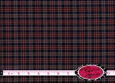 HOMESPUN NAVY TARTAN Fabric by the Yard Half Yard or Fat Quarter Navy Blue Fabric Blue & Red Plaid Fabric 100% Cotton Quilting Fabric w5-1