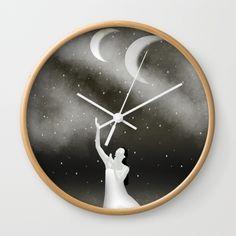 Worshipping the Moon Wall Clock