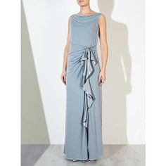 BuyJohn Lewis Darielle Sleeveless Jersey Maxi Dress, Blue Grey, 8 Online at johnlewis.com