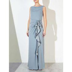 BuyJohn Lewis Darielle Sleeveless Jersey Maxi Dress, Blue Grey, 8 Online at johnlewis.com