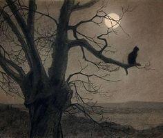 Theophile-Alexandre Steinlen, Cat in Moonlight, c.1900.
