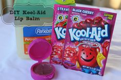 DIY Kool-Aid Lip Balm #kool-aid #crafts #BacktoSchool My kids would love this!
