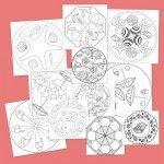 Recursos para el aula: Mandalas para colorear en verano