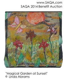Art quilt by Linda Abrams #artquilts #SAQA