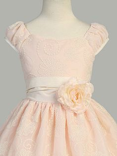 I ADORE this flower girl dress!!! AND it comes in peach!!