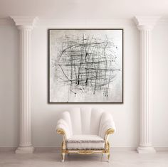 """Price from: $180 Large Original Abstract Painting On Canvas, Black and White  TG003 Square painting Size from: 22"""" x 22""""   handmade Acrylic from Studio Trend Gallery#abstractpainting #largecanvasart #largeabstractart #originalartwork #originalart #abstractcanvas #texturepainting #homedecorart  #roomdecor #roomdesign #livingroomdecor #wallart #wallartdecor #wallartprint Extra Large Wall Art, Large Art, Black Abstract, Abstract Canvas, Wall Art Decor, Wall Art Prints, Large Canvas Art, Texture Painting, Living Room Decor"""