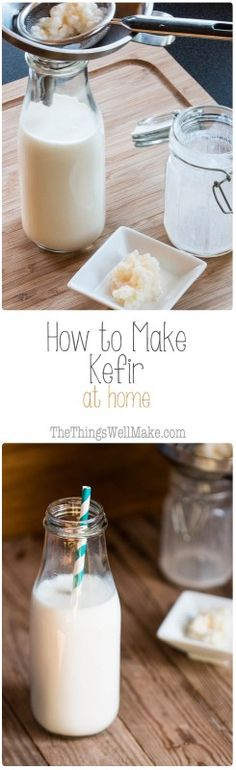 Milk kefir can be made with a variety of milks (from animals and vegetables.) Learn how to make kefir at home, and benefit from this probiotic beverage.